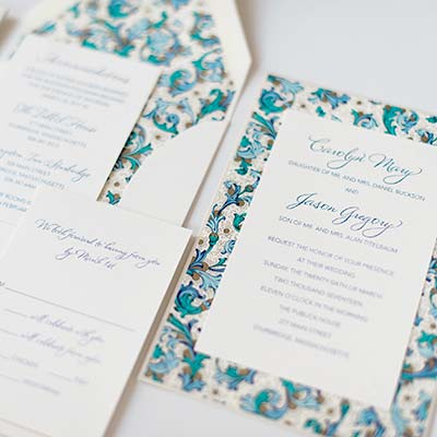 Wedding Invitations from A Small Creation in Peabody MA